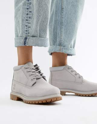 Timberland Nellie Chukka Double Lilac Leather Ankle Boots