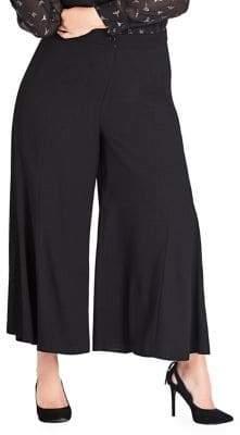 City Chic Plus Noveau Cropped Pants
