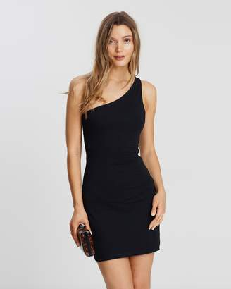 Atmos & Here ICONIC EXCLUSIVE - Sara One-Shoulder Jersey Body-Con Dress