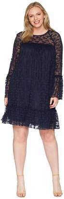 MICHAEL Michael Kors Size Long Sleeve Lace Ruffle Dress Women's Dress