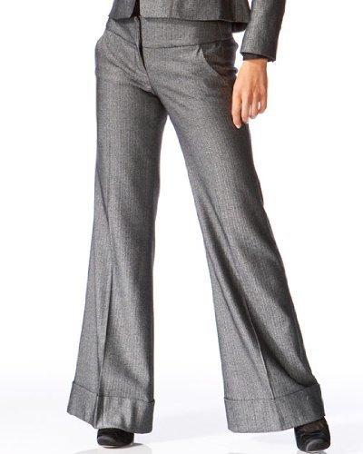 Herringbone Wide Leg Trouser