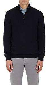 Barneys New York Men's Wool Half-Zip Sweater-Navy