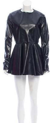 Celine Faux Leather Mini Dress