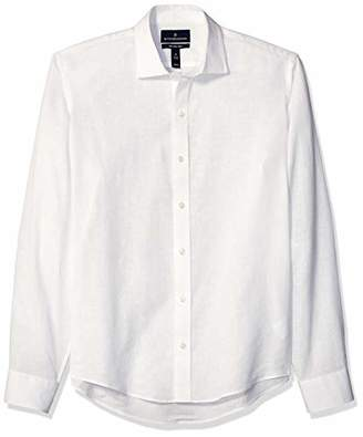 Buttoned Down Men's Slim Fit Casual Linen Cotton Shirt