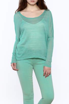 Elise Mint Green Knit Top
