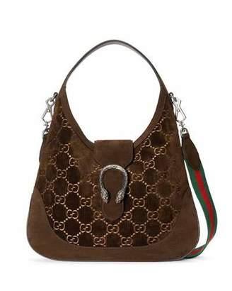 Gucci Dionysus Medium GG Velvet Hobo Bag