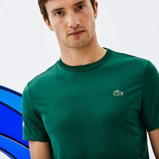 Lacoste Men's SPORT Crew Neck Stretch Technical Jersey T-shirt - x Novak Djokovic Off Court Premium Edition