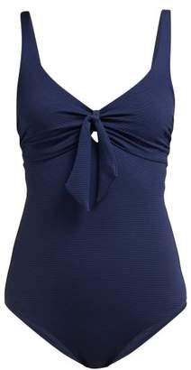 Melissa Odabash Lisbon Bow Front Stretch Jersey Swimsuit - Womens - Navy