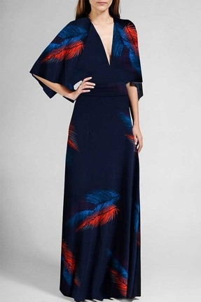 Rachel Pally Short Sleeve Caftan Dress in Feather