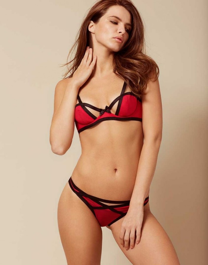 Agent ProvocateurJoan Brief Red and Black