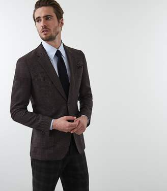 Reiss Our last order date for Christmas has now passed FAITHFUL SLIM FIT BLAZER Brown