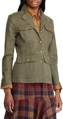 Chaps Petite Slim Fit Stretch Cotton Twill Jacket