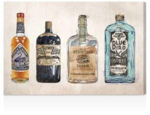 Oliver Gal Hatcher and Ethan Vintage Liquors Canvas Art, 36 x 24
