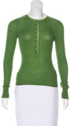 Vince Long Sleeve Cashmere Top