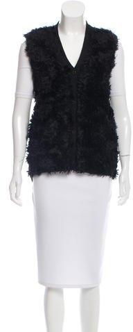 pradaPrada Mohair-Paneled Wool Vest
