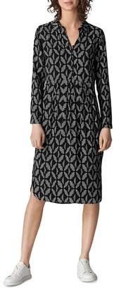 Whistles Courtney Geo-Print Dress