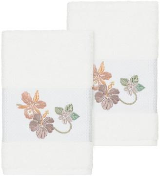 Linum Home Textiles Turkish Cotton Caroline Embellished Hand Towel Set