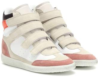 Isabel Marant Bilsy leather high-top sneakers