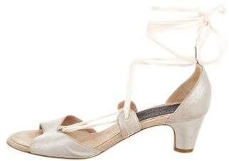 Marc by Marc Jacobs Leather Lace-Tie Sandals