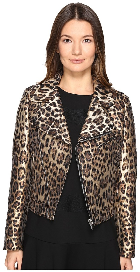 RED Valentino RED VALENTINO - Leopard Jacqaurd Jacket Women's Coat