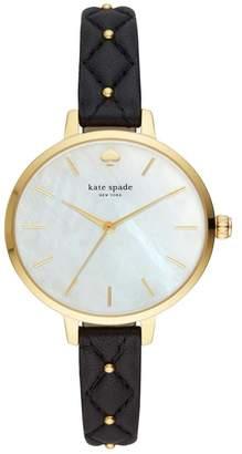 Kate Spade Women's Metro Leather Strap Watch, 34mm
