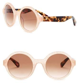 Kate Spade Khrista 52mm Round Sunglasses