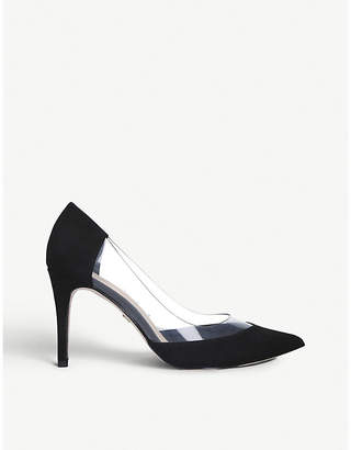 Kurt Geiger Atlas suedette and perspex courts
