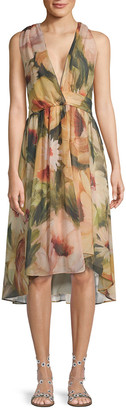 Haute Hippie Floral Wrap Dress