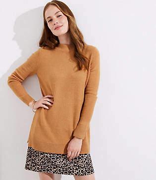 LOFT Petite Mock Neck Tunic Sweater