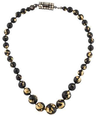 Tom Binns Resin & Crystal Bead Necklace