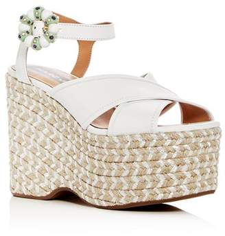 Marc Jacobs Women's Rowan Leather Espadrille Platform Wedge Sandals