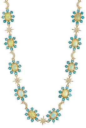 Ileana Makri Women's Mixed-Gemstone Flower Necklace