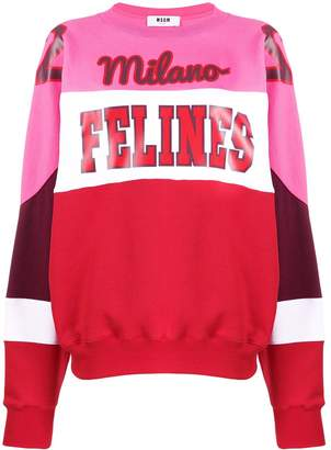 MSGM 'Milano Felines' sweatshirt