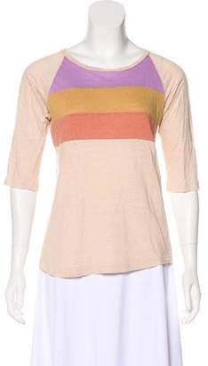 Etoile Isabel Marant Striped Linen T-Shirt