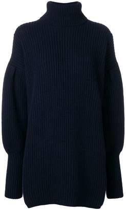 Dondup balloon sleeve turtleneck sweater