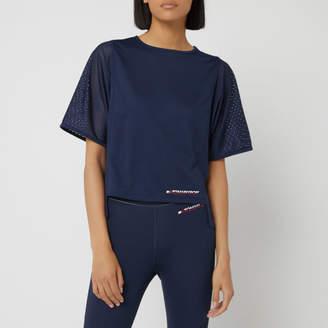50d6b058 Tommy Hilfiger Women's Short Sleeve Mesh T-Shirt