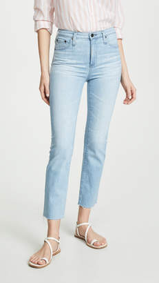 AG Jeans The Isabelle High Rise Straight Crop Jeans