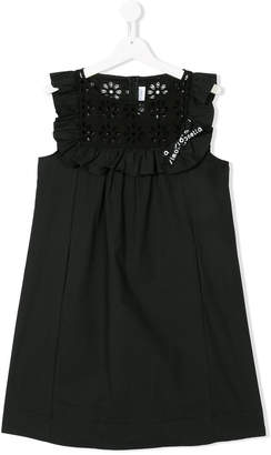 Simonetta TEEN logo tape dress