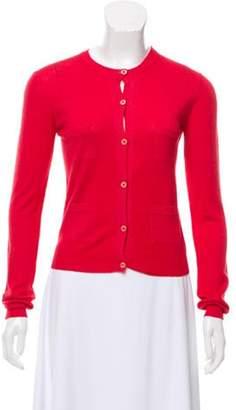 Prada Cropped Wool Cardigan Red Cropped Wool Cardigan