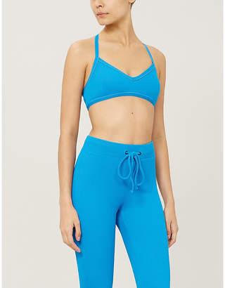 Koral Trine Rib crossover back stretch-jersey sports bra