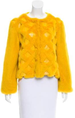Oscar de la Renta Mink Fur & Water Snake Jacket w/ Tags Yellow Mink Fur & Water Snake Jacket w/ Tags