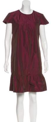 Burberry Scoop Neck Knee-Length Dress