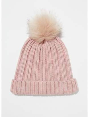 Miss Selfridge - Pink Faux Fur Pom Hat