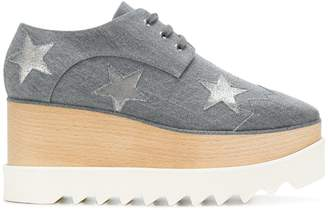 Stella McCartney Star Elyse denim platform shoes