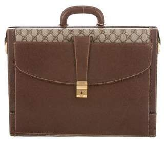 Gucci VIntage GG Plus Hard Briefcase