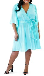 Maree Pour Toi Faux Wrap Dress