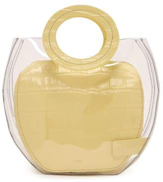 STAUD Frida Leather & Pvc Tote Bag - Womens - Yellow
