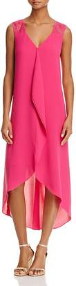 Adrianna Papell High/Low Chiffon Ruffle Dress $140 thestylecure.com