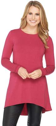 Halston H By H by Essentials Knit Tunic with Hi-Low Hem