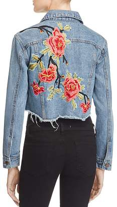 Sunset & Spring Cropped Embroidered Denim Jacket - 100% Exclusive $128 thestylecure.com